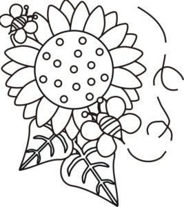 Gambar Mewarnai Bunga Matahari Kartun