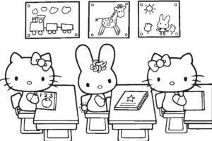 Gambar Mewarnai Hello Kitty Rumah