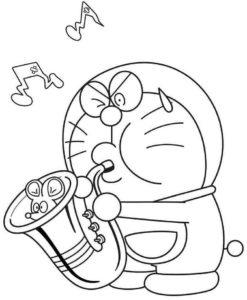 Gambar Mewarnai Doraemon 5