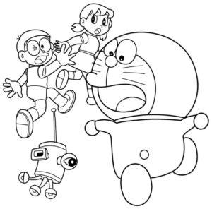 Gambar Mewarnai Doraemon 6