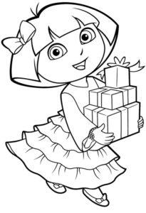 Gambar Mewarnai Dora The Explorer 3
