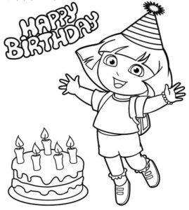 Gambar Mewarnai Dora The Explorer 5