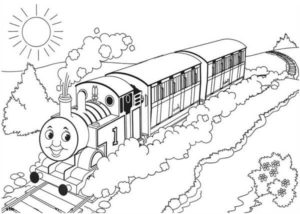 Gambar Mewarnai Thomas and Friends 2