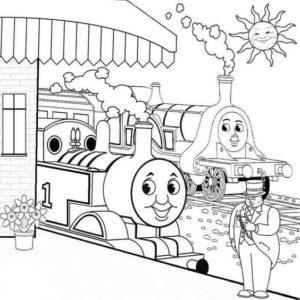 Gambar Mewarnai Thomas and Friends 4