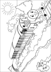 Gambar Mewarnai Thomas and Friends 5
