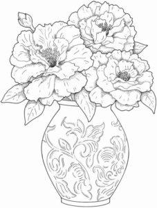 1. Gambar Mewarnai Bunga