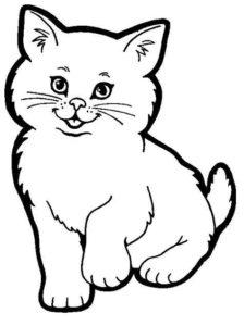 1. Gambar Mewarnai Kucing