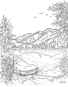 1.Gambar Mewarnai Gunung