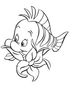 1.Gambar Mewarnai Ikan