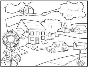 1.Gambar Mewarnai Rumah
