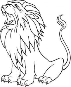 1.Gambar Mewarnai Singa