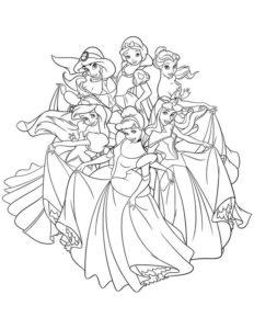 10..Gambar Mewarnai Princess