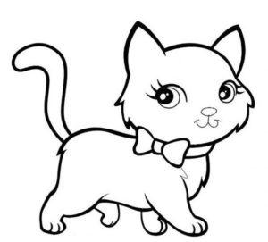 2. Gambar Mewarnai Kucing