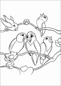 2.Gambar Mewarnai Burung