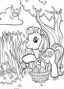 2.Gambar Mewarnai Kuda Poni
