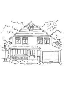 2.Gambar Mewarnai Rumah