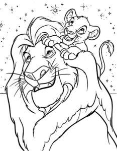 2.Gambar Mewarnai Singa