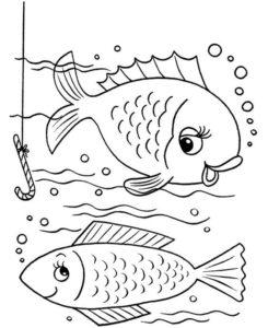 3.Gambar Mewarnai Ikan