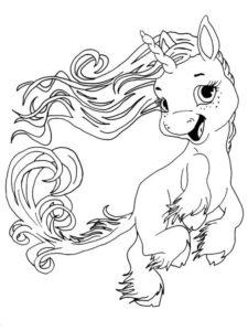 3.Gambar Mewarnai Kuda Poni