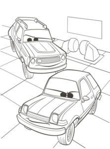 3.Gambar Mewarnai Mobil