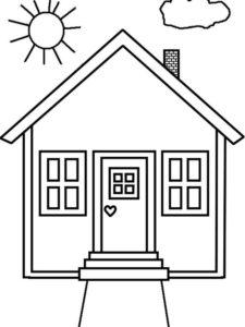 3.Gambar Mewarnai Rumah