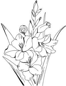 4. Gambar Mewarnai Bunga