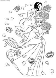 4..Gambar Mewarnai Princess