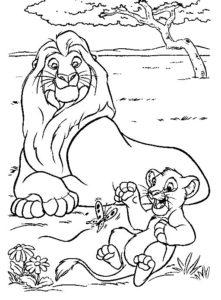 4.Gambar Mewarnai Singa