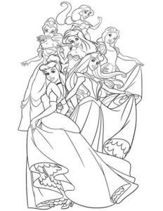 5..Gambar Mewarnai Princess