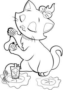 5.Gambar Mewarnai Kucing