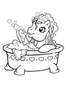 5.Gambar Mewarnai Kuda Poni