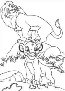 5.Gambar Mewarnai Singa