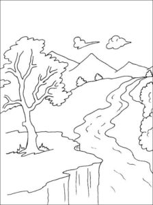 6.Gambar Mewarnai Gunung