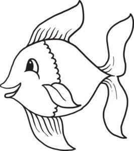 6.Gambar Mewarnai Ikan