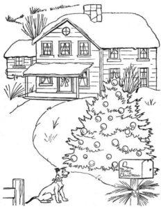 6.Gambar Mewarnai Rumah