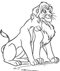 6.Gambar Mewarnai Singa