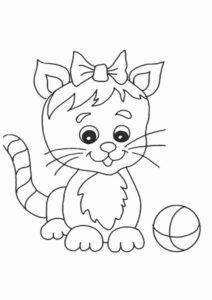 7. Gambar Mewarnai Kucing