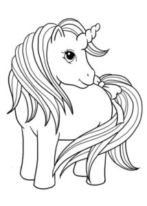 7.Gambar Mewarnai Kuda Poni