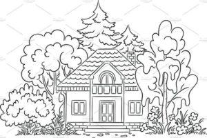 7.Gambar Mewarnai Rumah