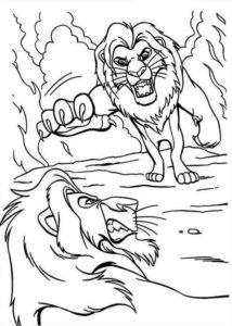 7.Gambar Mewarnai Singa