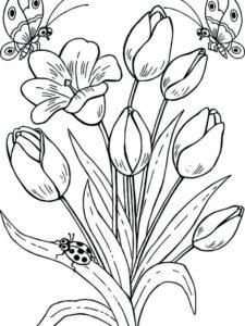 8. Gambar Mewarnai Bunga