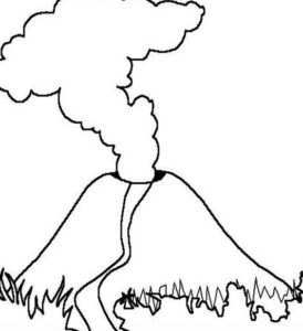 8.Gambar Mewarnai Gunung