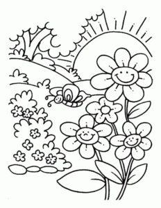 9. Gambar Mewarnai Bunga