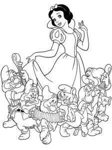 9..Gambar Mewarnai Princess