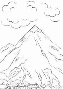 9.Gambar Mewarnai Gunung