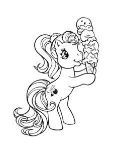 9.Gambar Mewarnai Kuda Poni