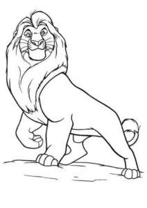 9.Gambar Mewarnai Singa