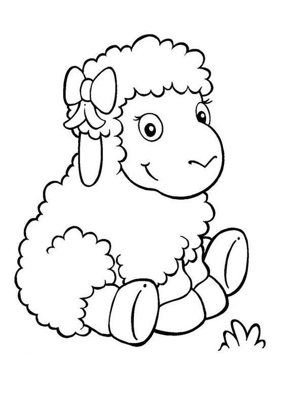 Gambar Mewarnai Domba Untuk Anak Tk Paud Dan Sd Pintar Mewarnai