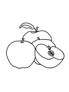 1.Gambar Mewarnai Buah Apel