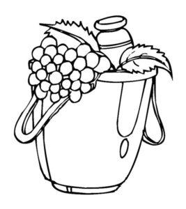 10.Gambar Mewarnai Buah Anggur
